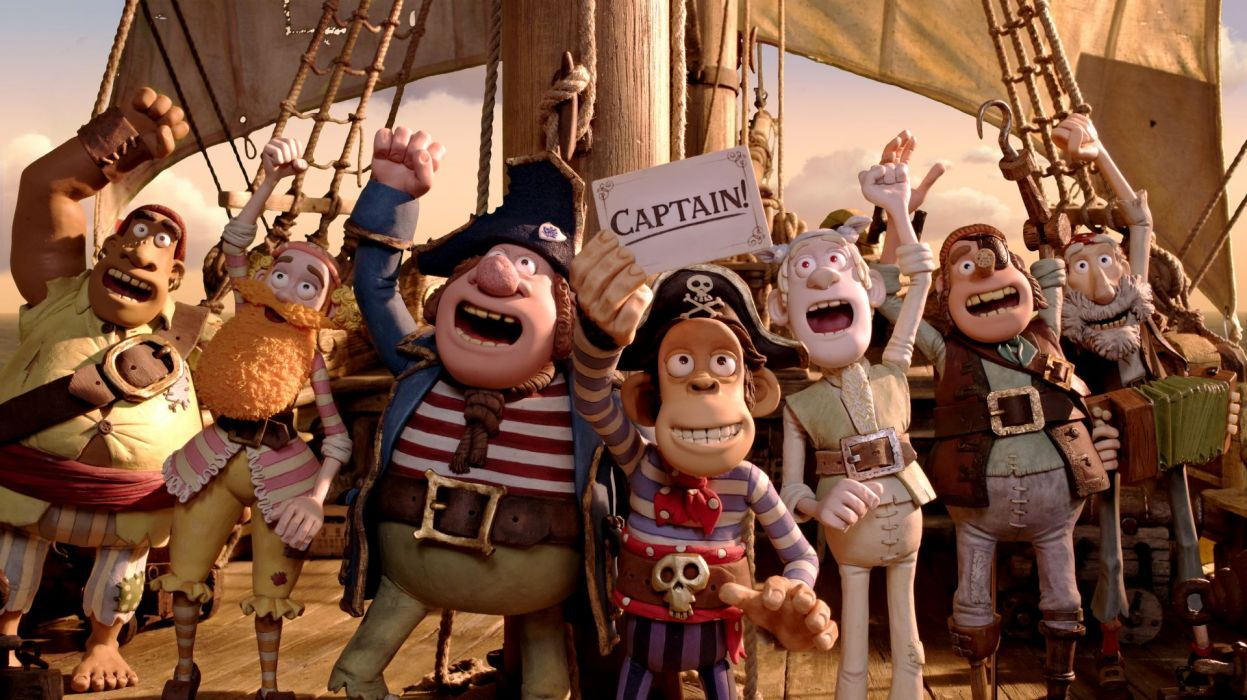 The Pirates! Band of Misfits animation adventure comedy cartoon pirate (22) wallpaper