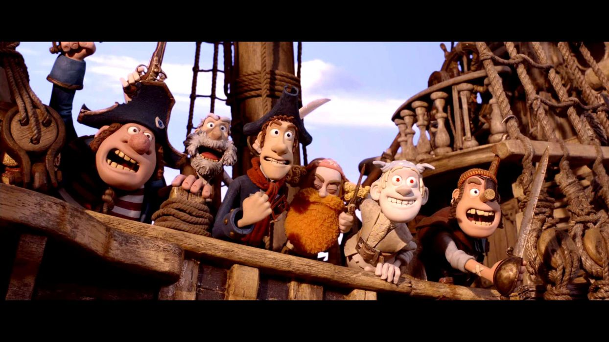 The Pirates! Band of Misfits animation adventure comedy cartoon pirate (27) wallpaper
