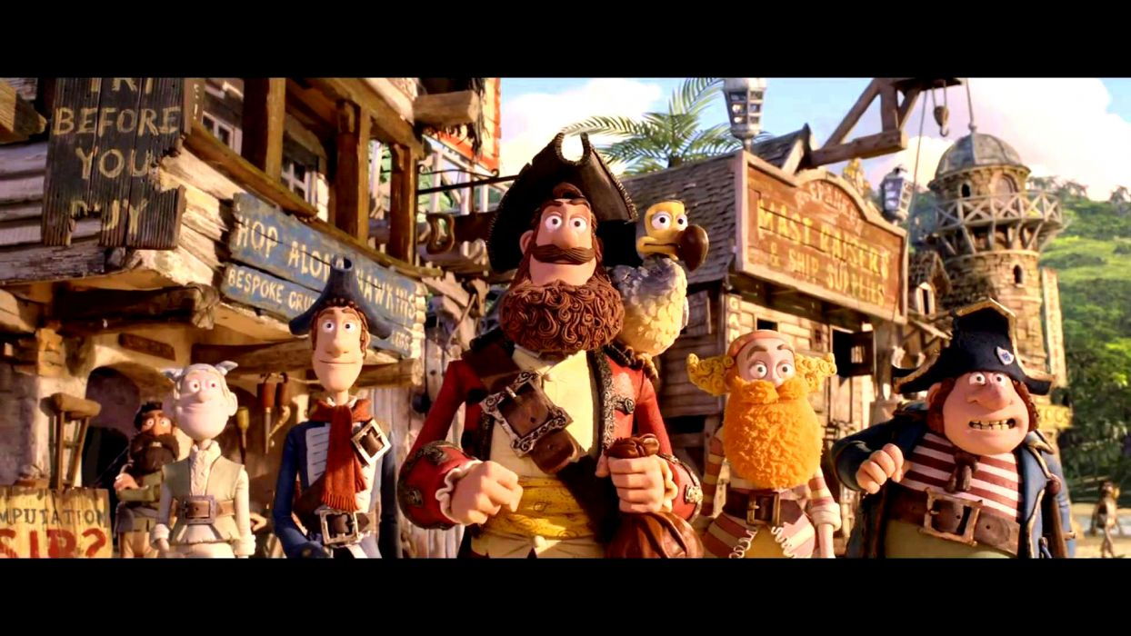 The Pirates! Band of Misfits animation adventure comedy cartoon pirate (29) wallpaper