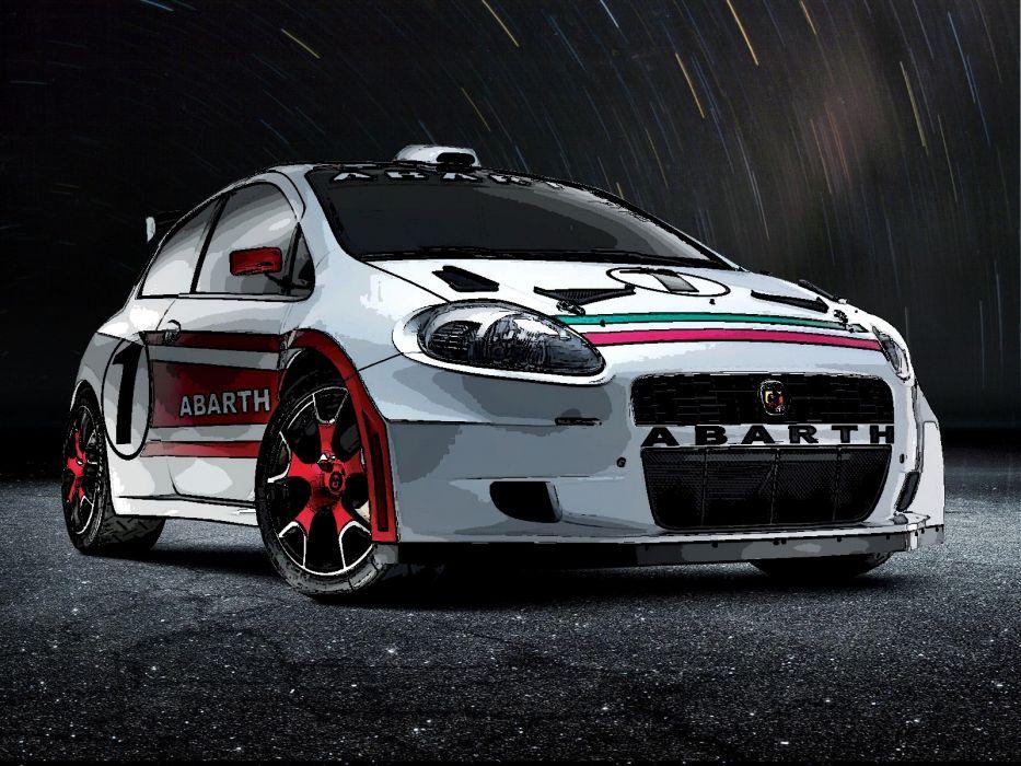 cars Fiat vehicles Abarth Fiat Punto wallpaper