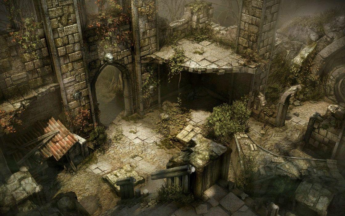 black ruins mirrors Dark Souls wallpaper