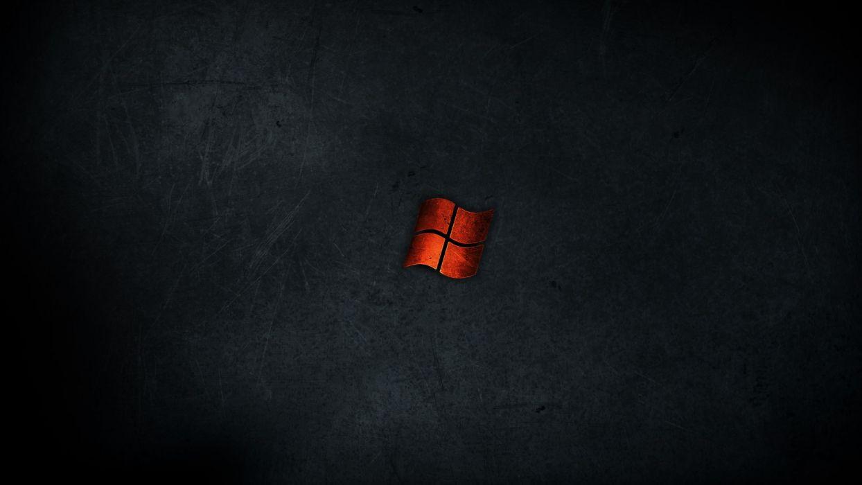 Minimalistic dark red metal windows wallpaper | 1920x1080