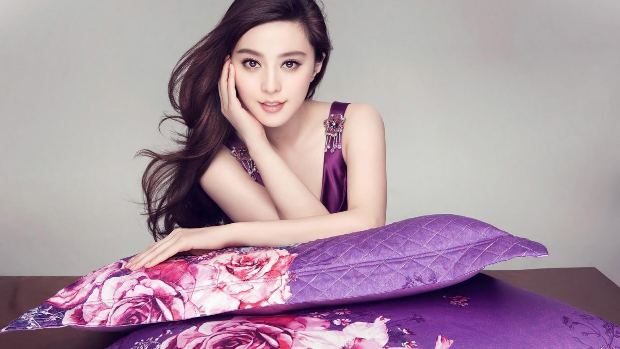 brunettes women celebrity Asians Fan Bingbing wallpaper