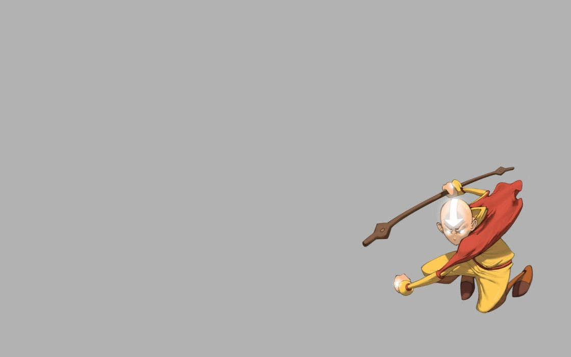 Minimalistic Avatar The Last Airbender Aang TV Series Wallpaper