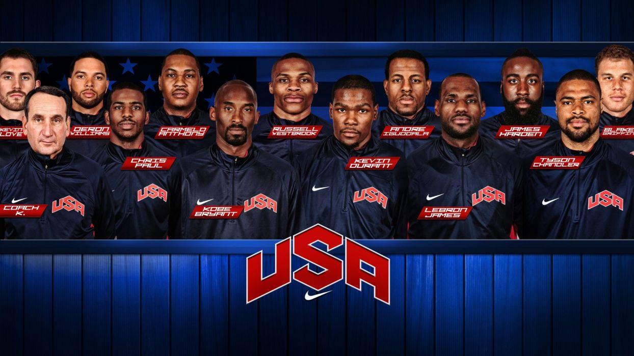 sports team USA NBA basketball Olympics Dream Team Olympic Games basketball player wallpaper
