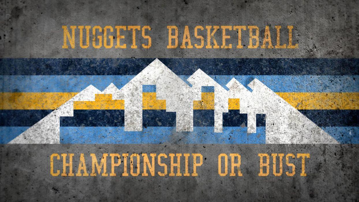 DENVER NUGGETS nba basketball (3) wallpaper