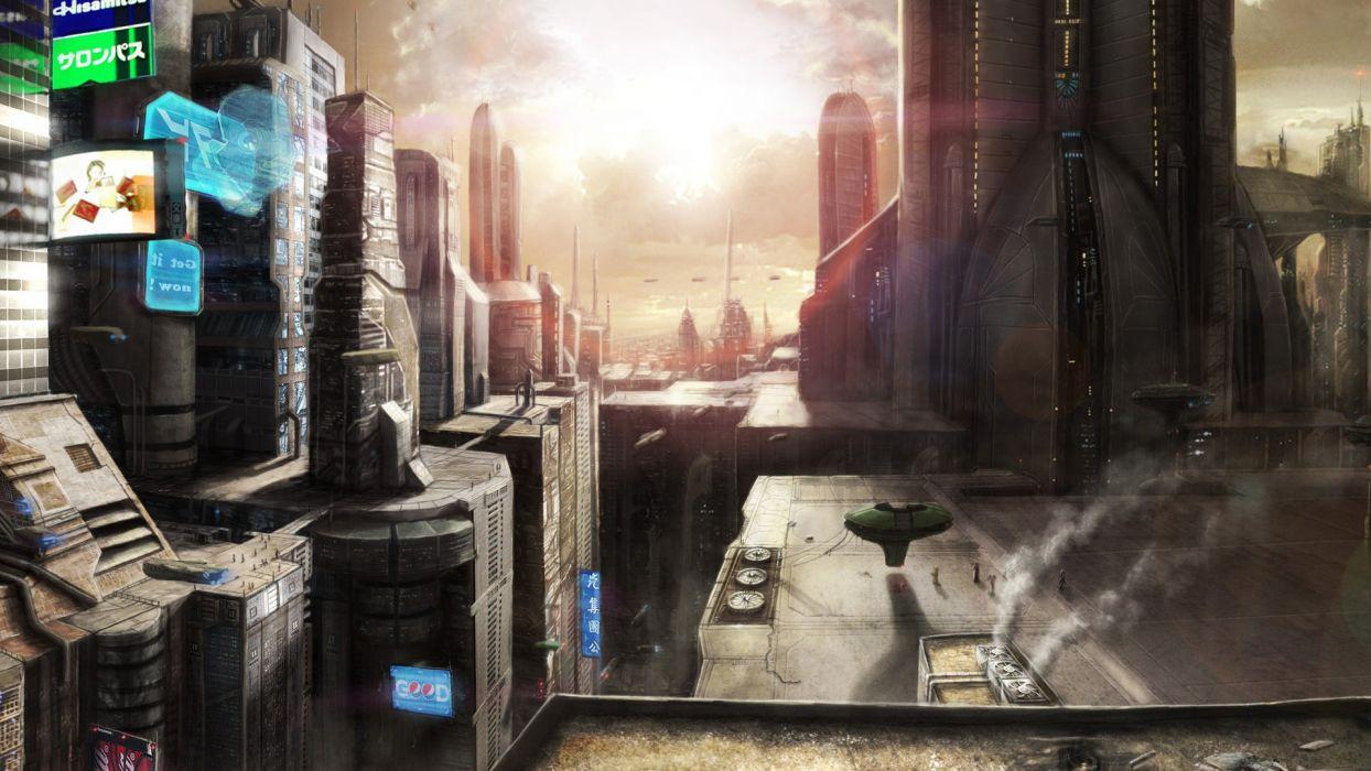 futuristic fantasy art science fiction artwork wallpaper