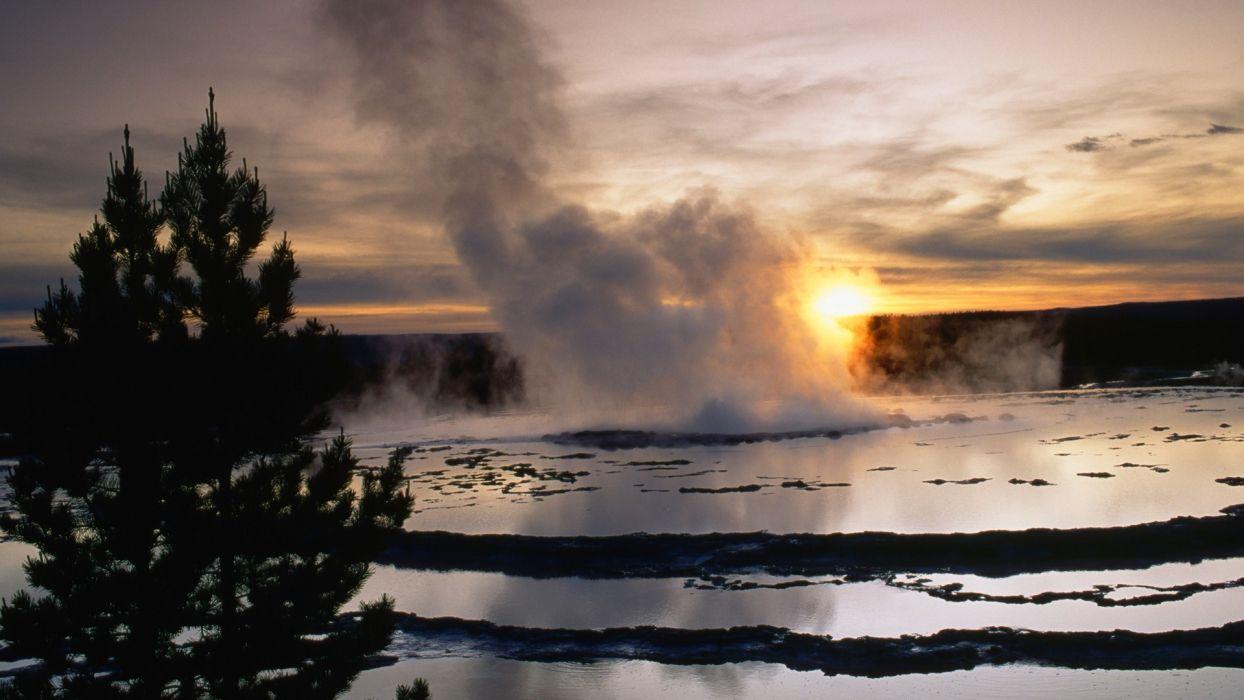 landscapes Yellowstone wallpaper
