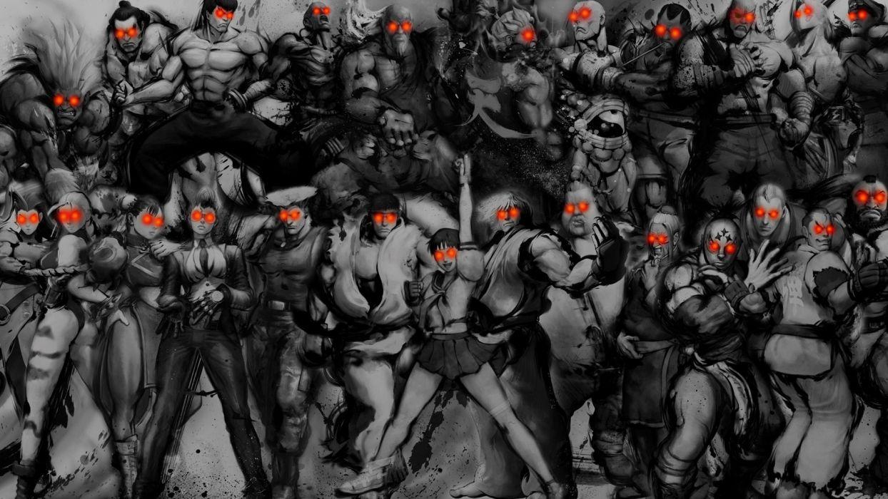 Balrog Street Fighter Cammy Ryu Sagat Akuma Chun-Li Zangief Blanka Vega M_ Bison Dhalsim E_ Honda Guile Ken Masters Crimson Viper Abel Fei Long Sakura Kasugano wallpaper
