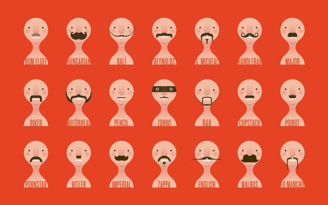 men moustache faces wallpaper