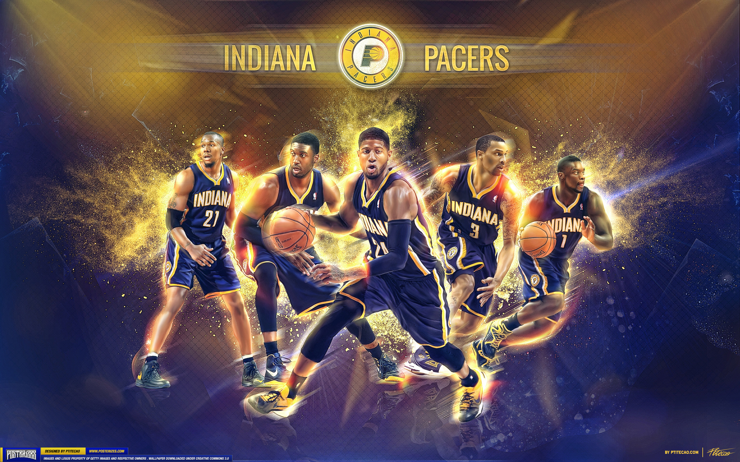 indiana pacers nba basketball 9 wallpaper 2560x1600