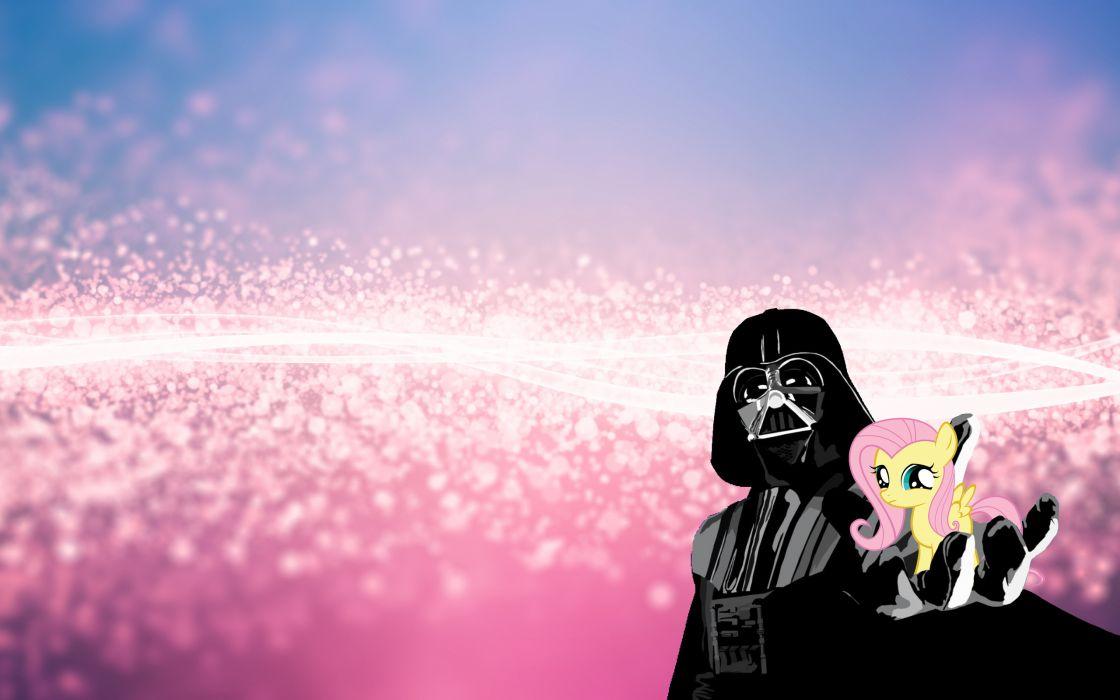 Darth Vader My Little Pony Fluttershy wallpaper