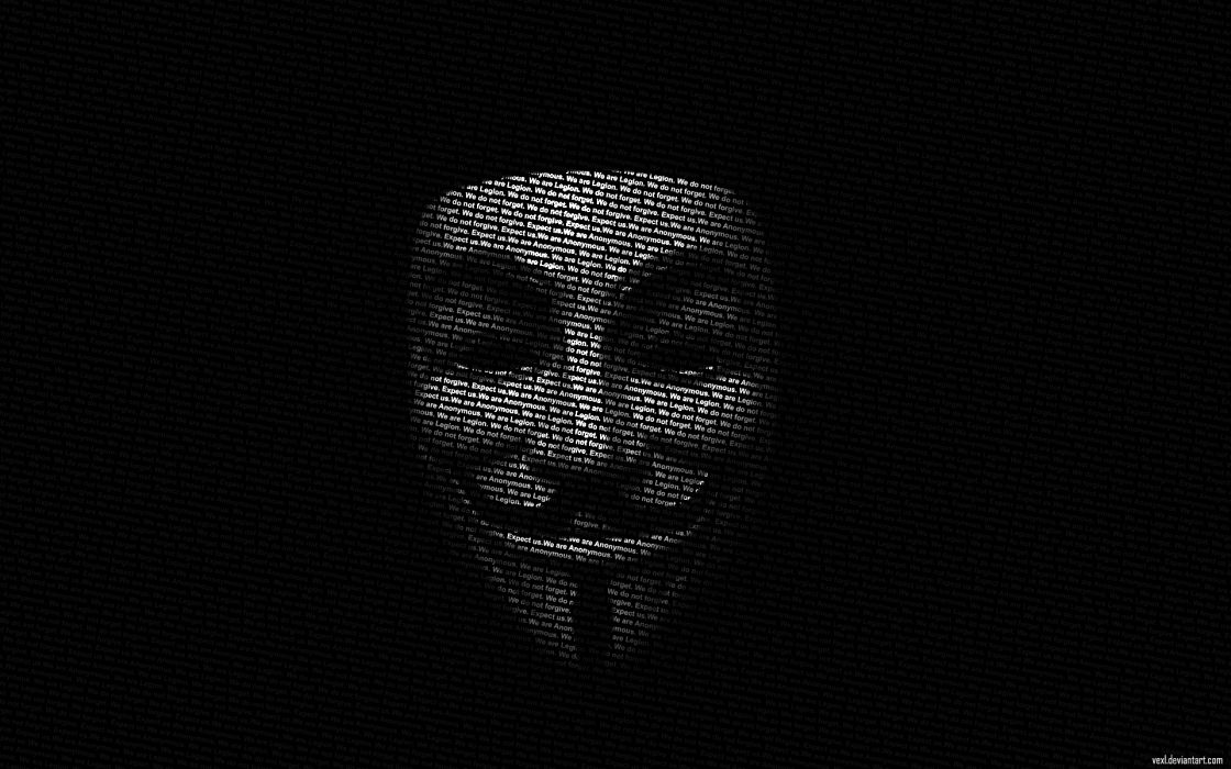 Anonymous movies legion Guy Fawkes V for Vendetta typographic portrait wallpaper