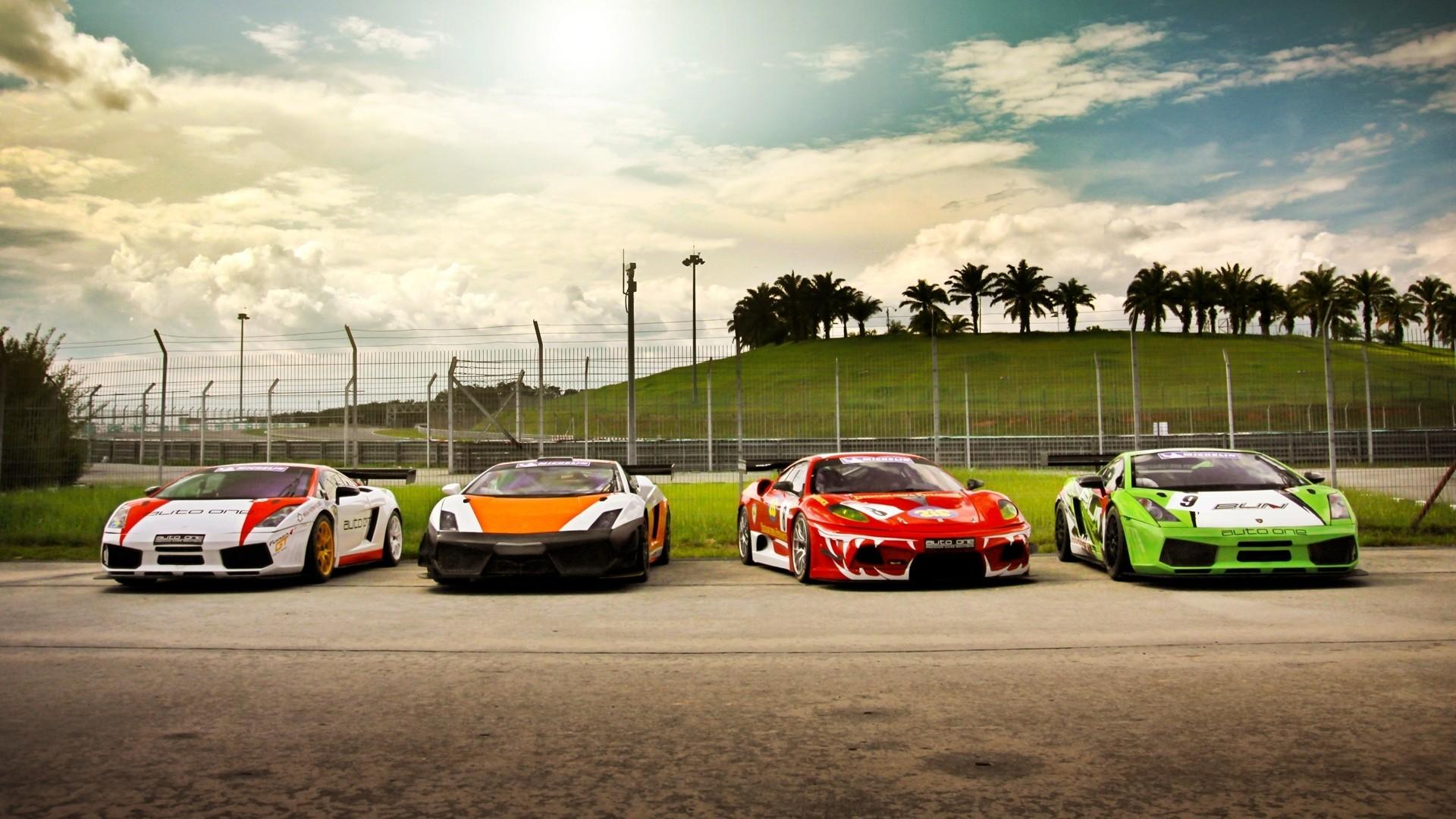 Beautiful Cars Track Lamborghini Gallardo Sports Cars Skyscapes Ferrari F430 Racing  Cars Gt3 Wallpaper | 1920x1080 | 227140 | WallpaperUP