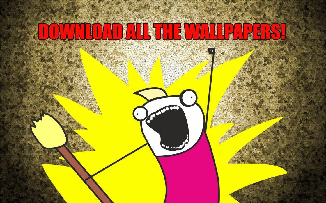 yellow text funny meme scream wallpaper