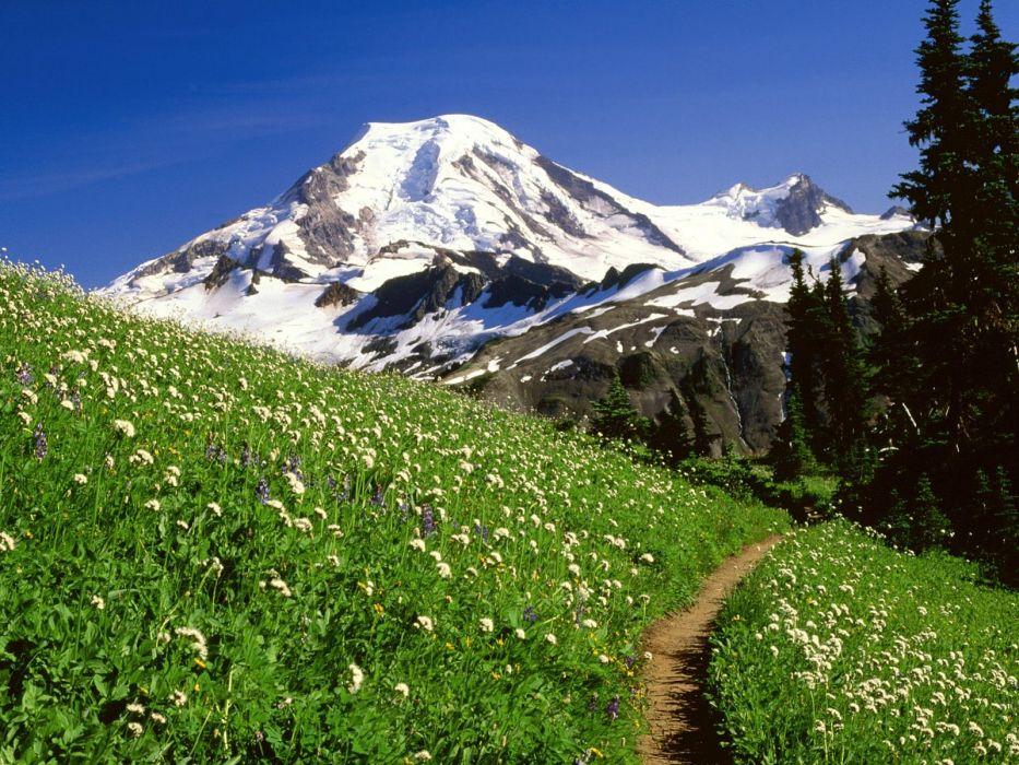 mountains landscapes snow wallpaper