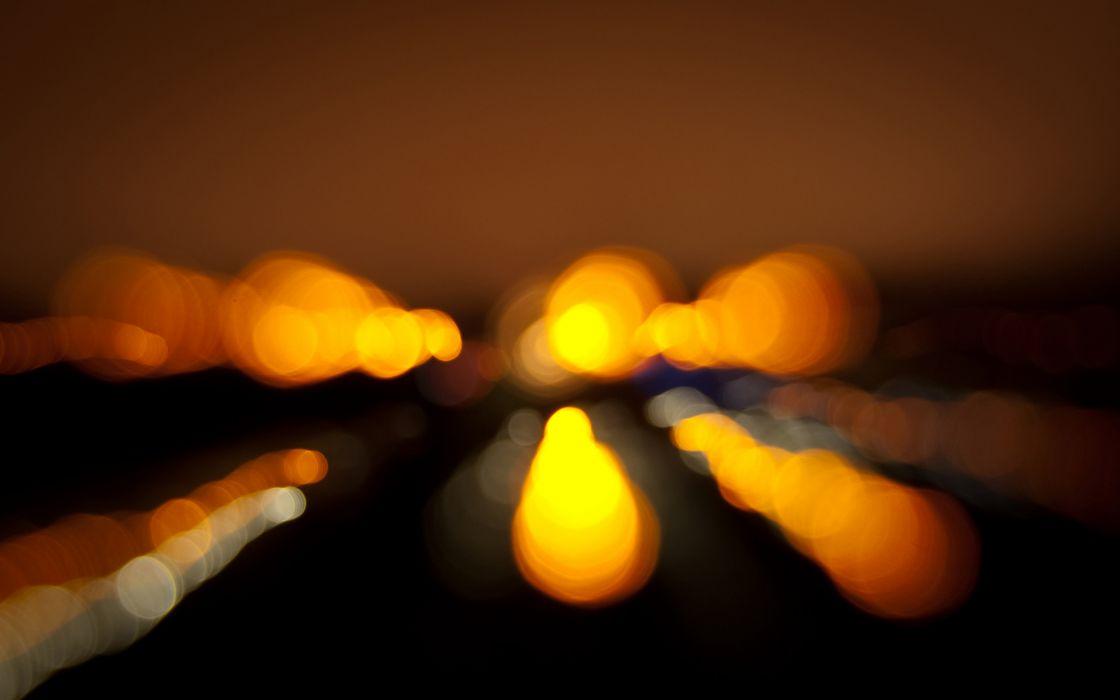 lights bokeh blurred wallpaper