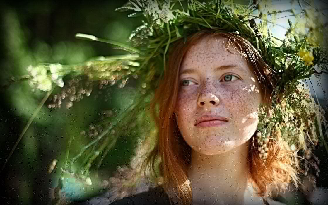 women redheads faces wallpaper