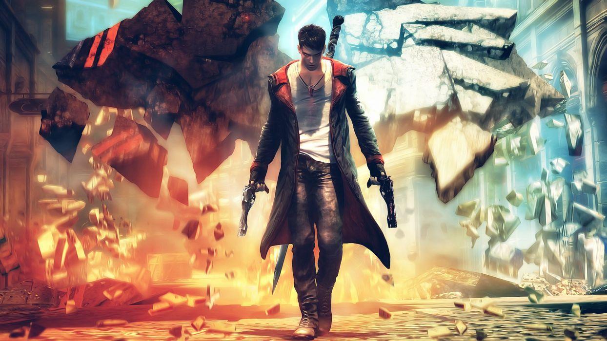 video games guns Devil May Cry Dante wallpaper