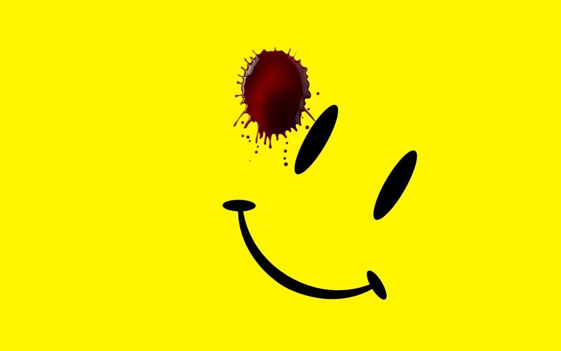 Watchmen yellow smiley face wallpaper