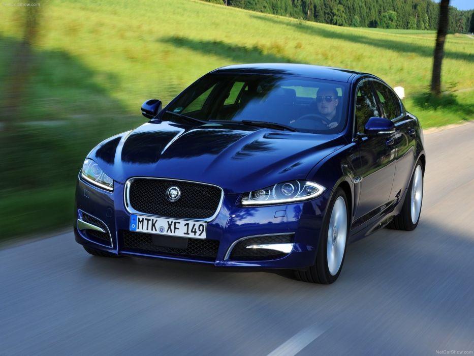 blue cars Jaguar XF wallpaper