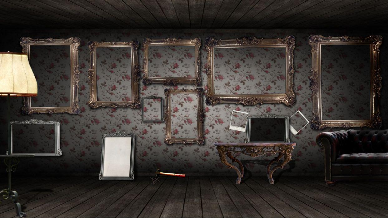 wall room design fantasy art frames decoration digital art wallpaper