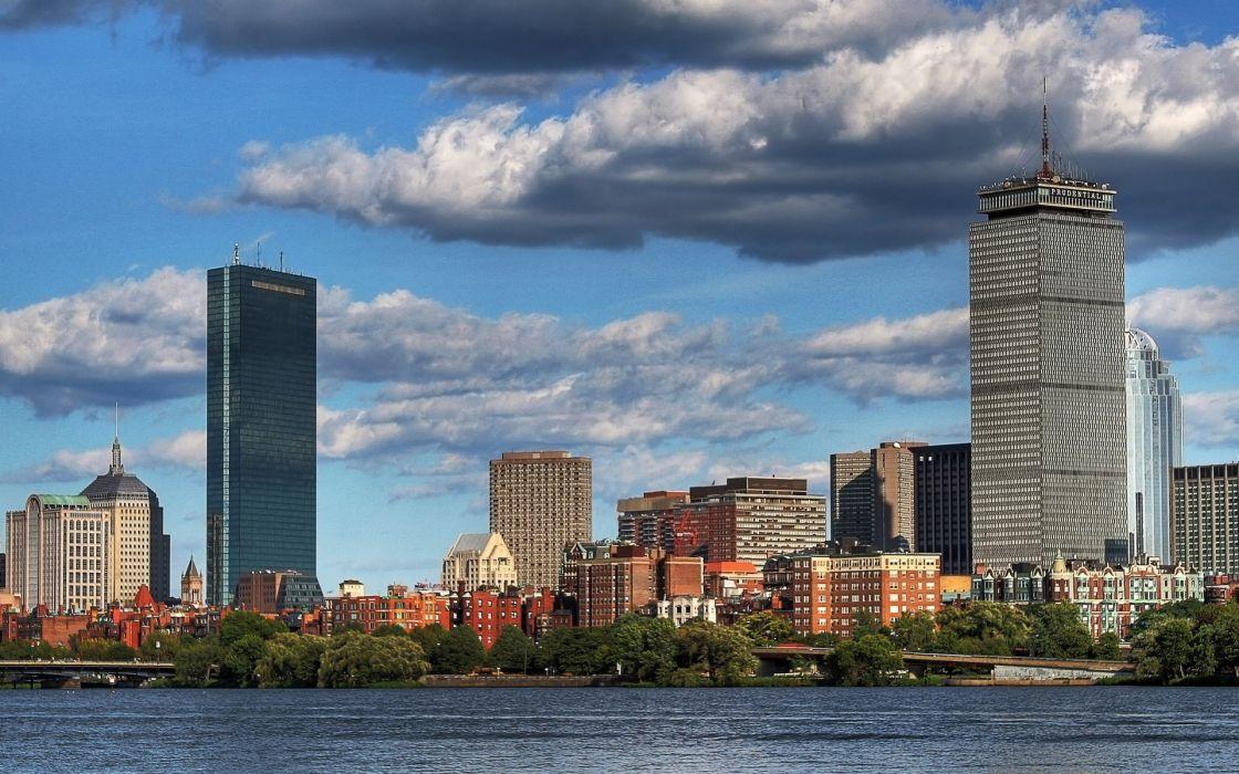 architecture buildings Boston wallpaper