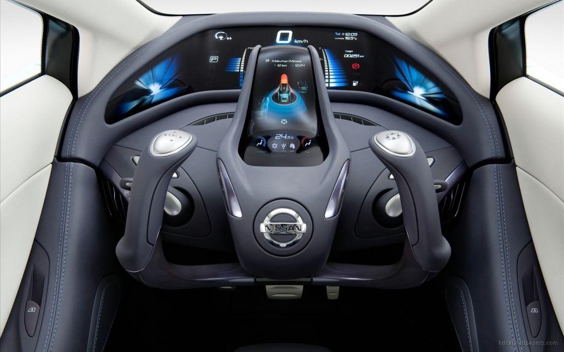 cars interior Nissan concept art vehicles glider land wallpaper
