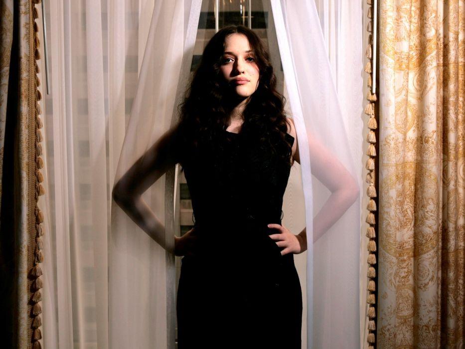 brunettes boobs women actress Kat Dennings wallpaper