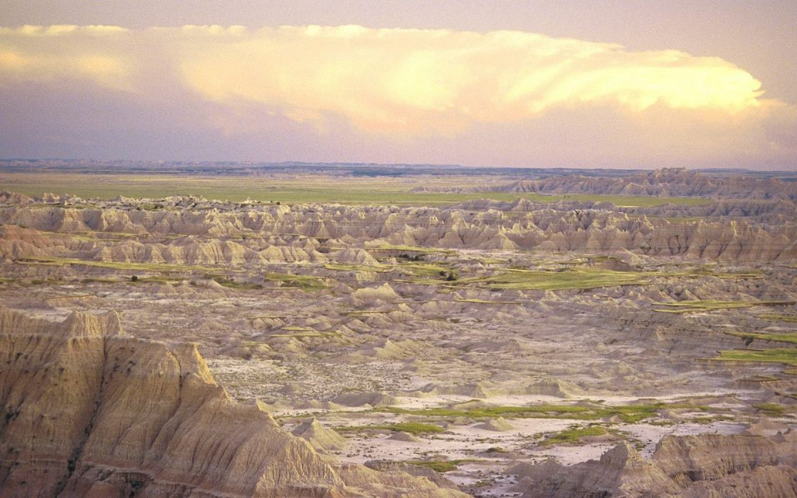 landscapes nature National Park badlands South Dakota wallpaper