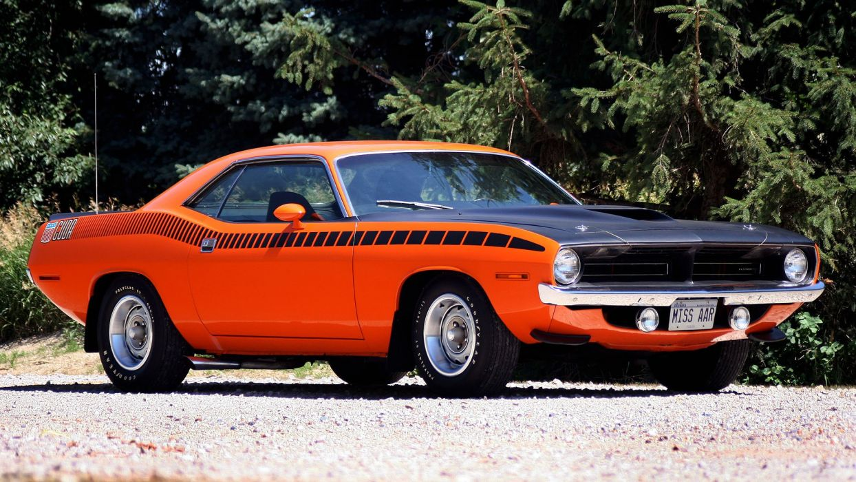 muscle cars Plymouth Barracuda widescreen cuda wallpaper
