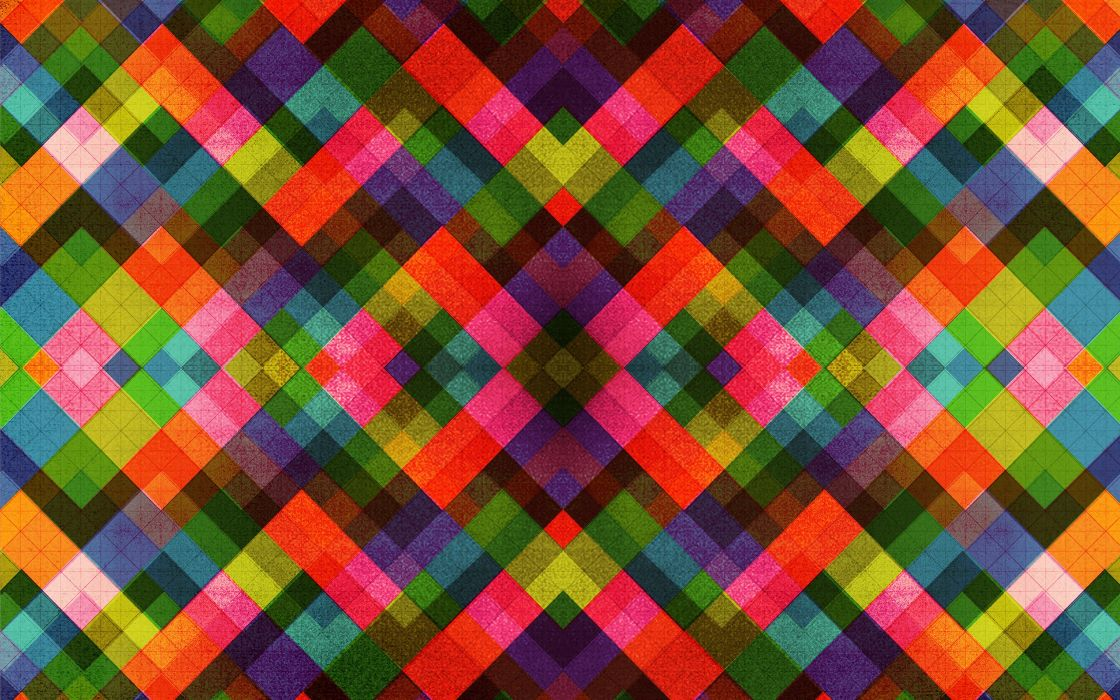 abstract multicolor patterns retro textures artwork Dan Matutina wallpaper
