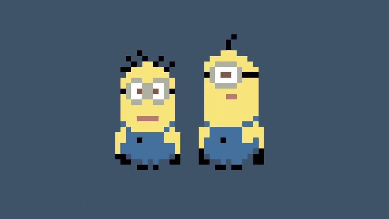 pixels Despicable Me minions wallpaper