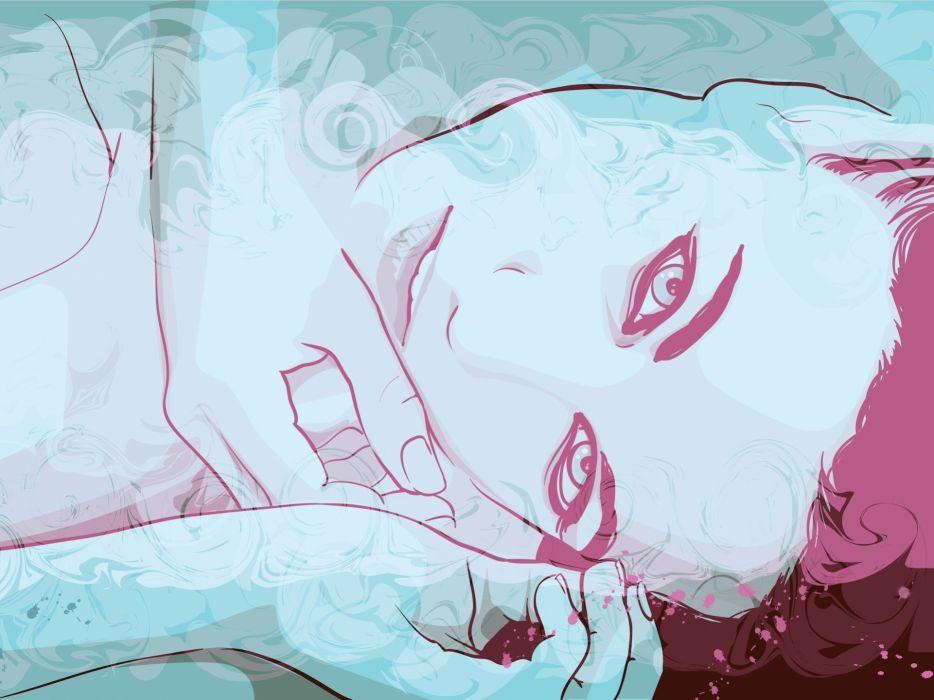 women vectors digital art artwork faces wallpaper