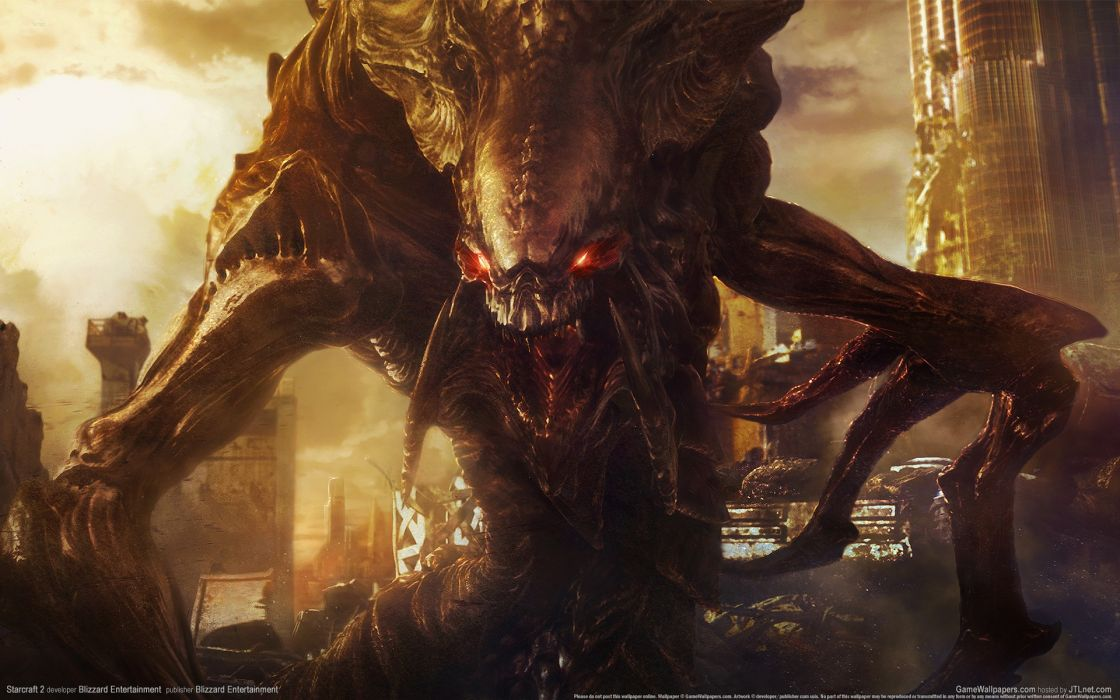 video games StarCraft Zerg Hydralisk artwork wallpaper