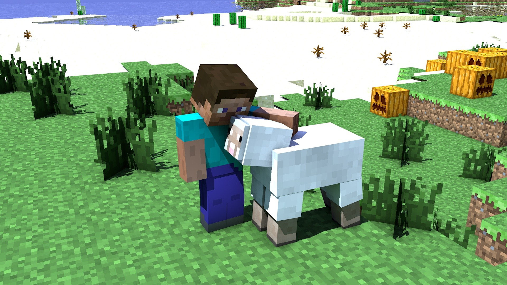 Sheep Steve Minecraft cinema 4d tapeta wallpaper | 1920x1080 | 228130 | WallpaperUP