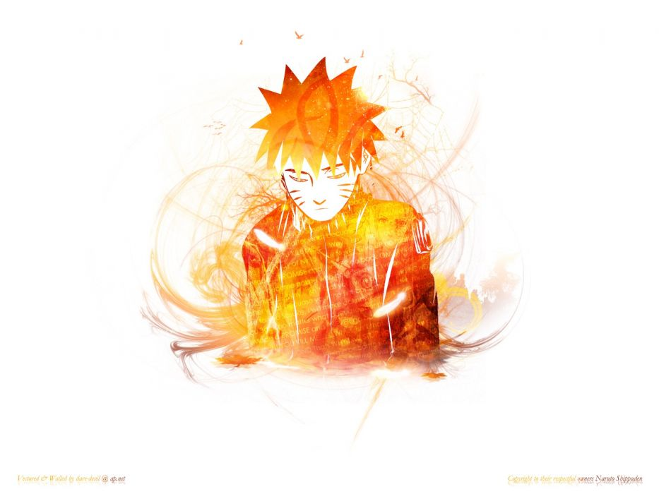 Naruto: Shippuden Uzumaki Naruto white background wallpaper