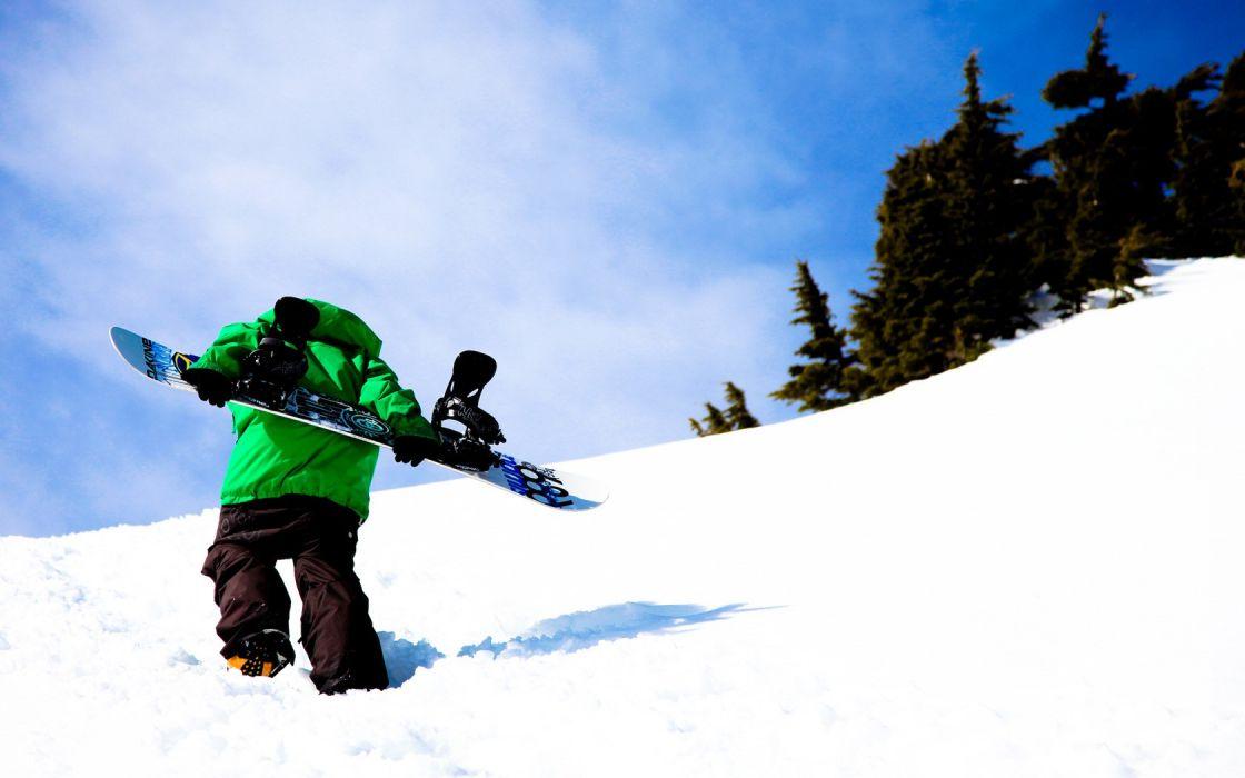 winter rider sports snowboarding wallpaper