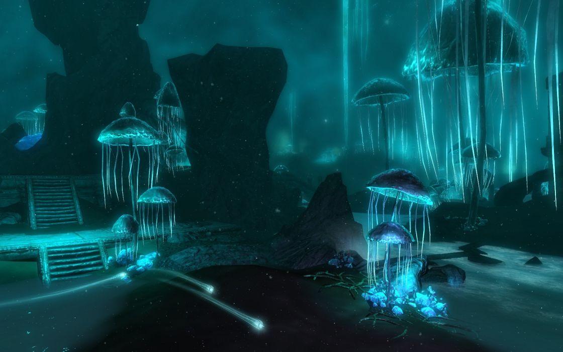 caves mushrooms The Elder Scrolls V: Skyrim wallpaper