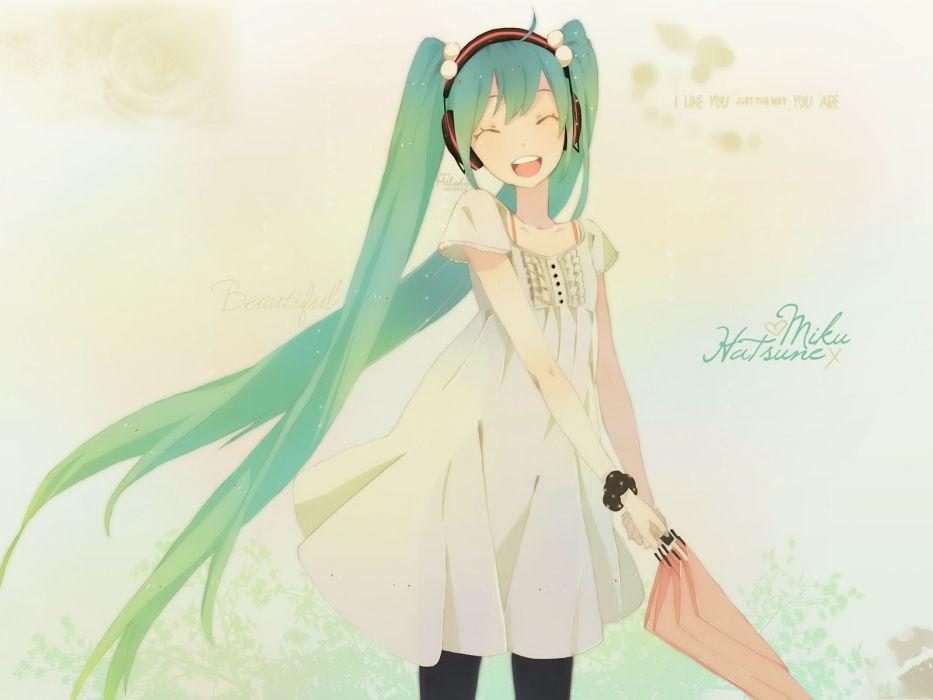 Vocaloid Hatsune Miku twintails wallpaper