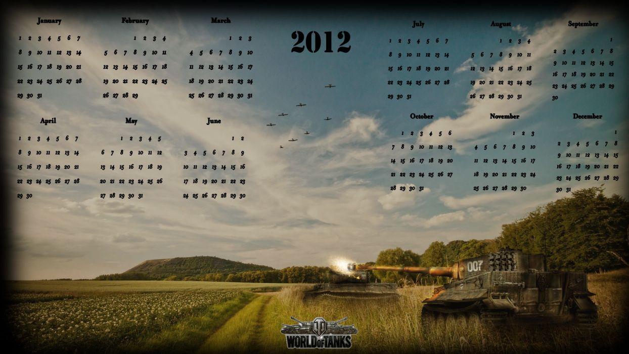 calendar World of Tanks online games wallpaper