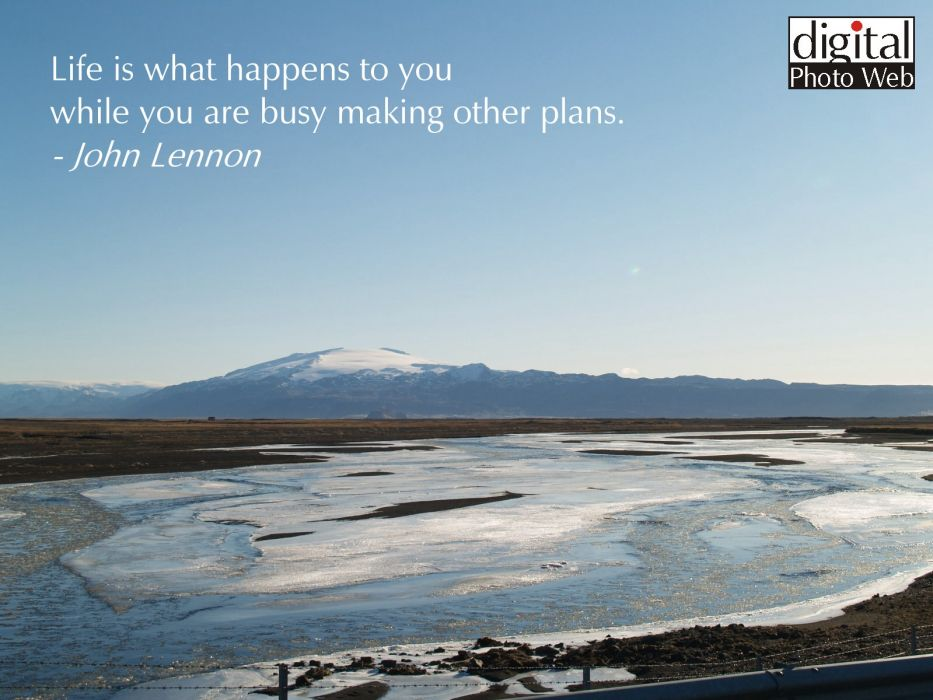 mountains quotes John Lennon Iceland wallpaper