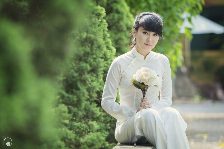 Ao dai vietnam girl beautiful woman wallpaper