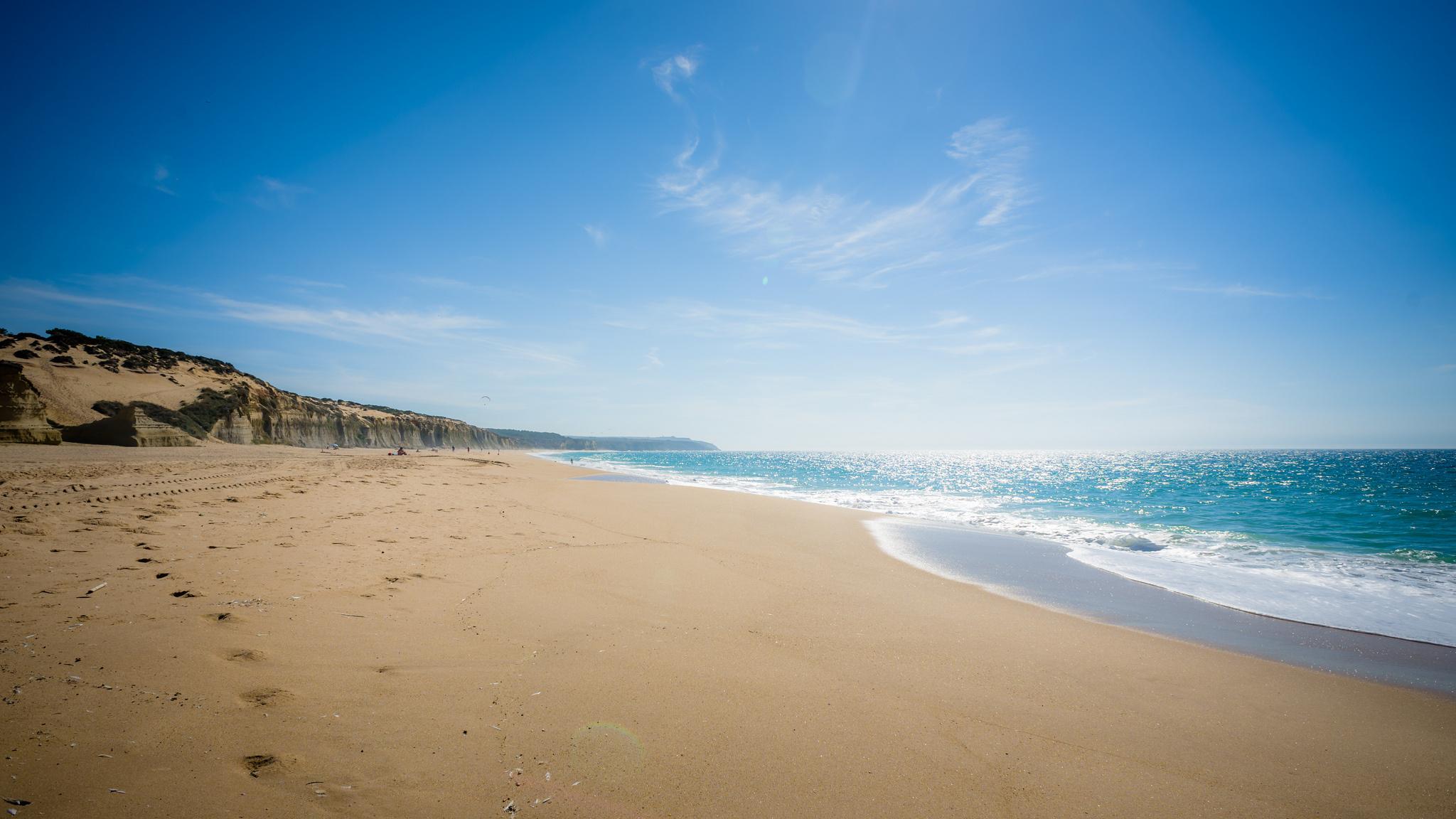 Beach landscape signs nature sand wallpaper | 2048x1152 ...