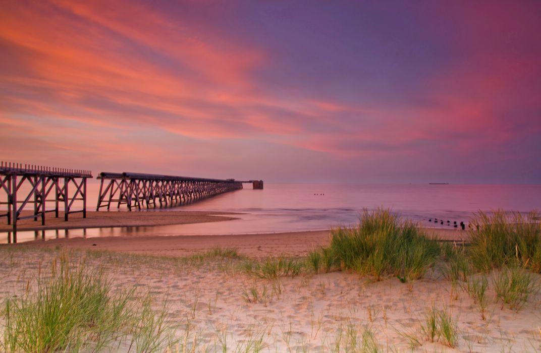 bridge pier landscape sand nature wallpaper