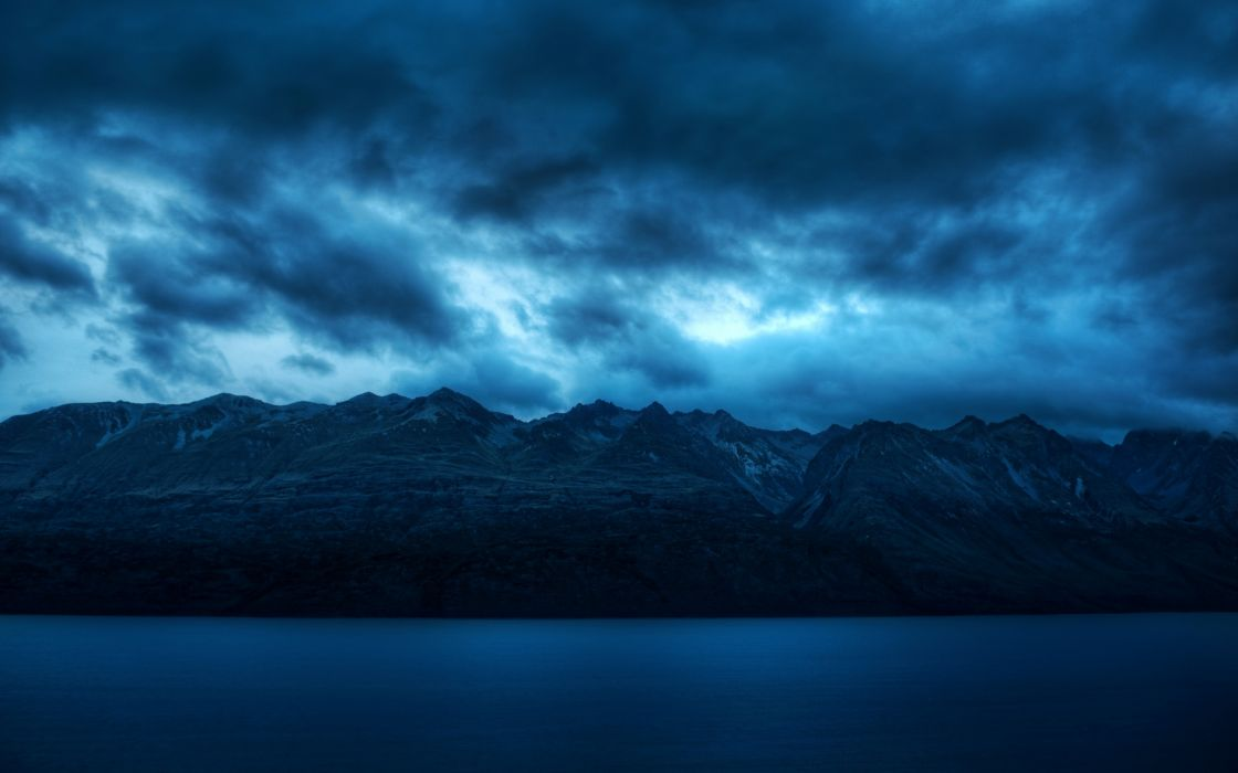 mountains nature sea landscape sky water wallpaper