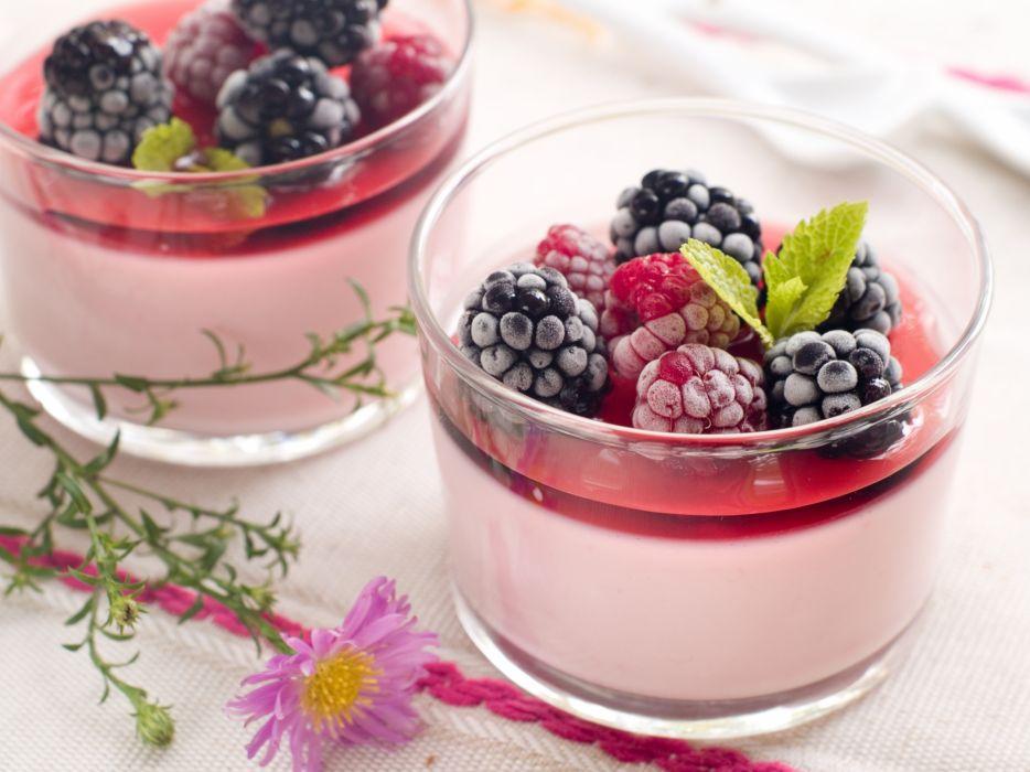 mugs food berries raspberries blueberries wallpaper