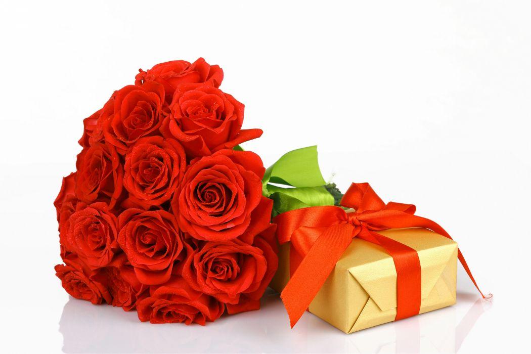 roses buds flower gift ribbon valentine   d wallpaper
