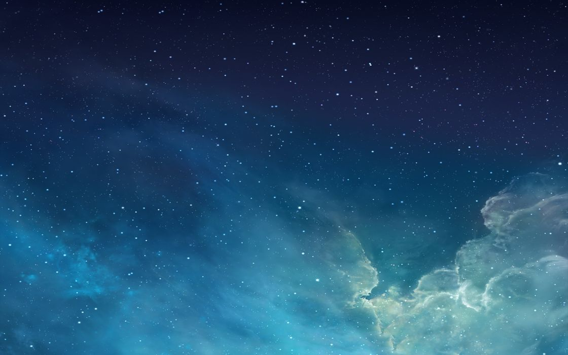 Iphone Best Stunning Apple Blue Ios Sky Stars Clouds Nebula Space Wallpaper