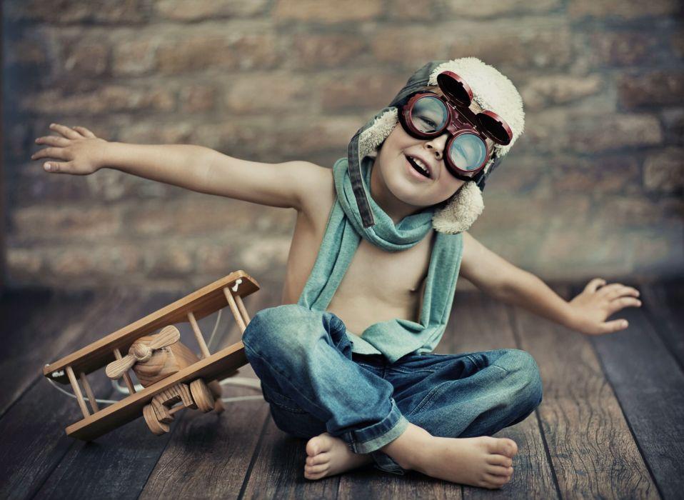 boy toy airplane helmet glasses jeans mood wallpaper